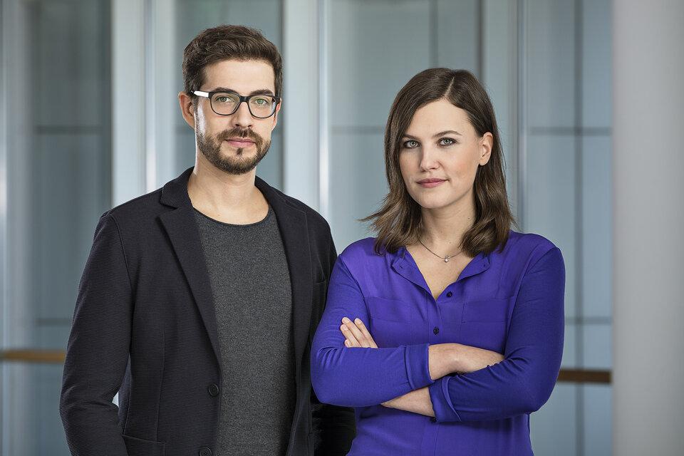 Porträt von Daniel Bröckerhoff und Hanna Zimmermann